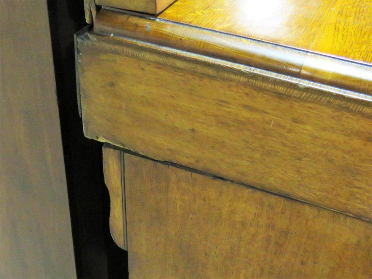 awesome Gothic Vanity For Sale Part - 17: Glass Gothic Style Oak Vanity With Mirror For Sale - Image 7 of 8