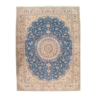 "Pasargad Ny Persian Nain Silk & Wool Rug - 10'2"" X 13'3"" For Sale"