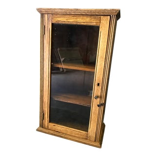 Early 20th Century Antique Table Top Display Cabinet For Sale