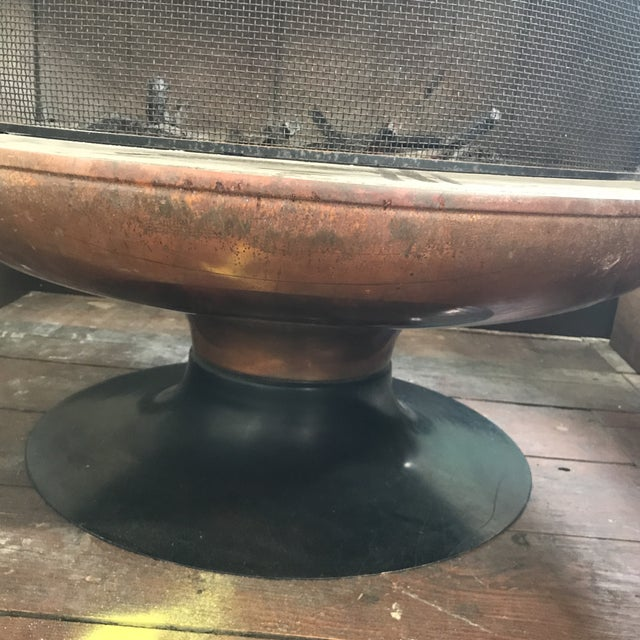 Malm Copper Firedrum Fireplace - Image 10 of 11