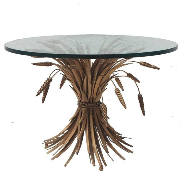 Metal Italian Sheaf of Wheat Cocktail Table For Sale - Image 7 of 7