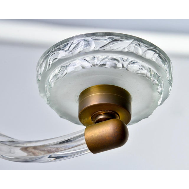 Art Deco Three Light Glass Chandelier For Sale In Detroit - Image 6 of 12