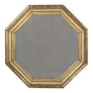 Antique Octagonal Gilded Mirror