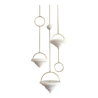 Farrah Sit Satin Khora - 3 Strand Chandelier For Sale