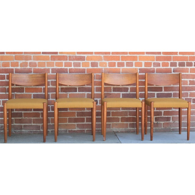 1960s Vintage Danish Modern Teak Dining Chairs- Set of 4 For Sale - Image 13 of 13