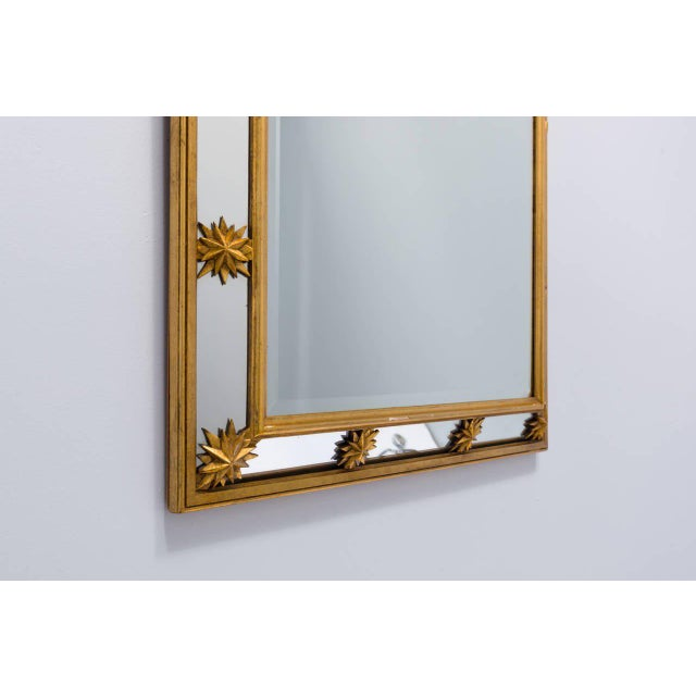 1950s Neoclassical Style Star Mirror For Sale - Image 5 of 8