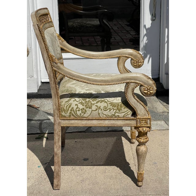 French Dessin Fournir - Quatrain Piedmontese Style Pierced Carved Chair For Sale - Image 3 of 6