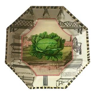 John Derian Octagonal Decoupage Plate For Sale