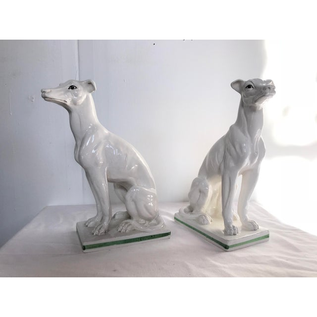 Ceramic Blanc De Chine Italian Greyhound's , a Pair For Sale - Image 7 of 13