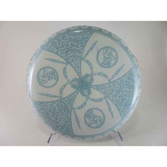 Glass Vintage French Neoclassical Style Glass Serving Plate Tray For Sale - Image 7 of 13