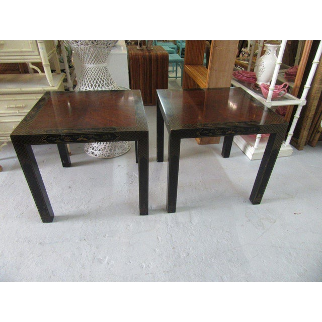 Asian Inspired Drexel Side Tables - a Pair - Image 7 of 9