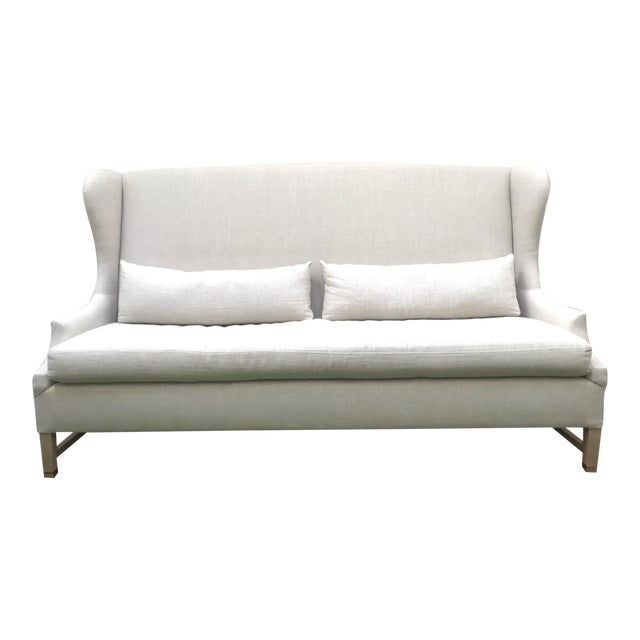 Verellen High Back Belgium Linen Sofa - Image 1 of 3