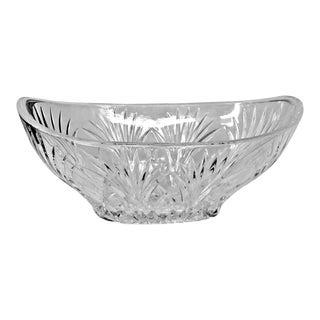 Vintage Bleikristall Germany Cut Glass Crystal Serving Bowl For Sale