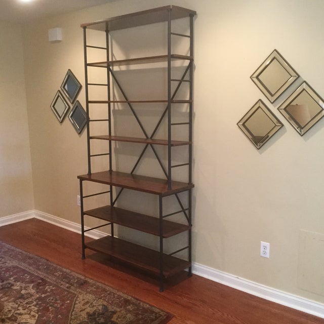 Industrial Metal & Wood Sonoma Bookcase - Image 3 of 4