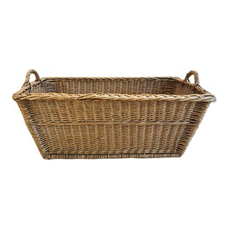 French Hand Woven Wicker & Willow Market Basket