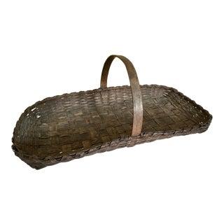 Antique New England Gathering Basket For Sale