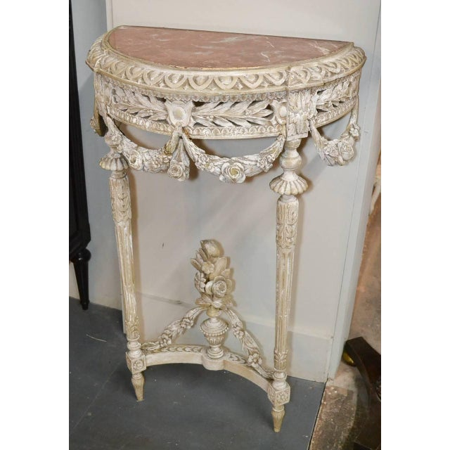 19th Century Pair of French Louis XVI Consoles For Sale - Image 4 of 11