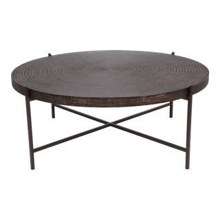 Calvin Coffee Table, Antique Copper For Sale