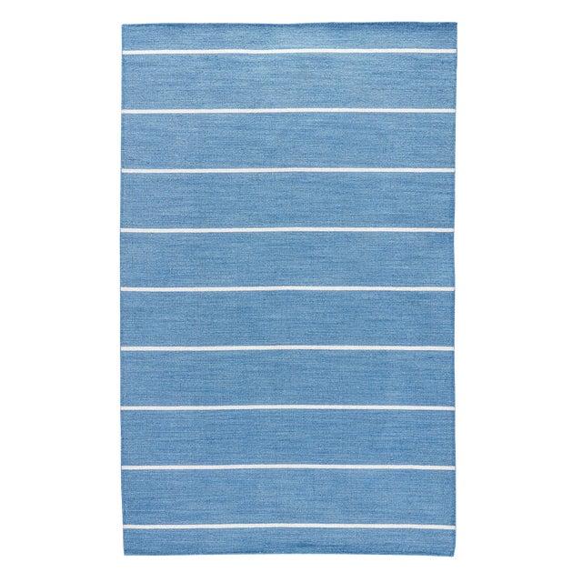 Jaipur Living Cape Cod Handmade Striped Blue/ Cream Runner Rug - 2′6″ × 8′ For Sale