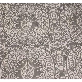 Quadrille Veneto Gray Fabric - 2 Pieces For Sale