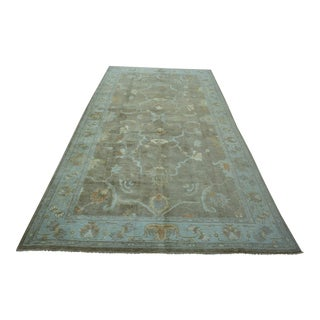 Turkish Anatolian Modern & Decorative Oushak Rug - 6′7″ × 13′2″