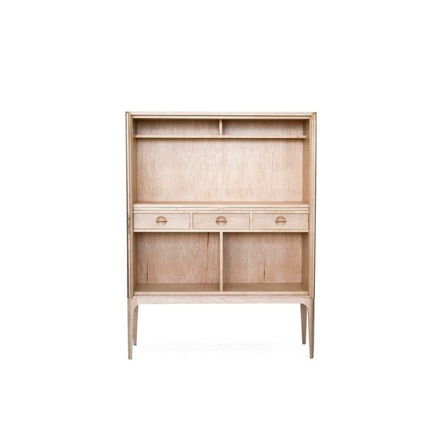 Contemporary Tambour Bar - Maple by Poritz & Studio For Sale - Image 3 of 8