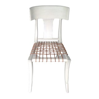 Klismos Style Custom Finish Dining Chair For Sale