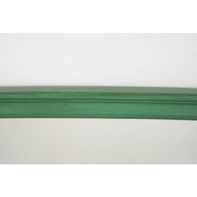 Vintage Green Mirror For Sale - Image 7 of 9
