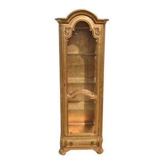 1970s Hollywood Regency Weiman Curio Cabinet For Sale