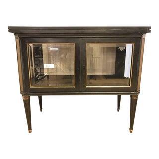 Hollywood Regency Maison Jansen Bronze-Mounted Vitrine Server
