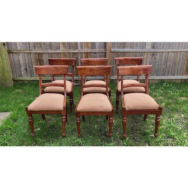 20th Century Reproduction Mahogany Empire Style Dining Room Chairs - Set of 6 For Sale - Image 13 of 13