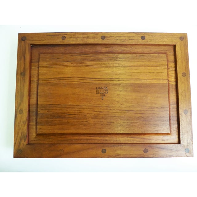 Dansk IHQ Modern Teak Tray with Glass Inserts, Quistgaard, Denmark For Sale - Image 12 of 13