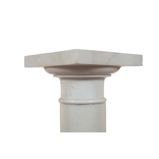 19th C. Italian Carrara Marble Carved Pillar Stand - Image 9 of 10