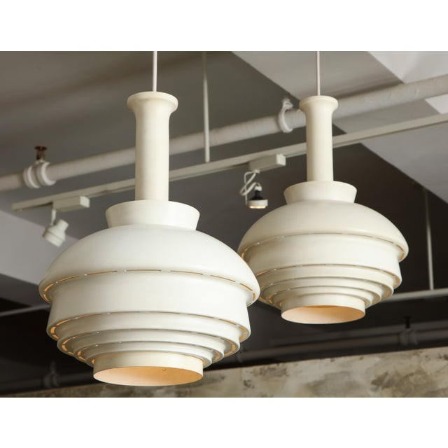 1950s Two Alvar Aalto Model A335b Cieling Lamps For Sale - Image 5 of 6