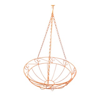 Orange Wire Hanging Fruit Basket For Sale