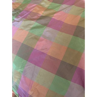 Silk Like Plaid Fabric - 57 Yards For Sale