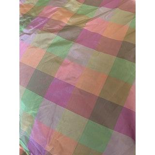 Silk Like Plaid Fabric - 8 Yards For Sale