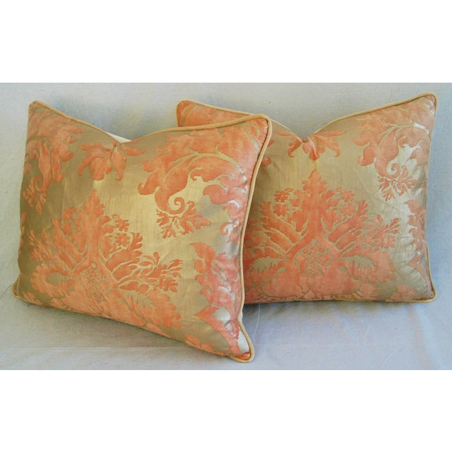 Italian Fortuny Glicine Gold Pillows - A Pair - Image 10 of 11