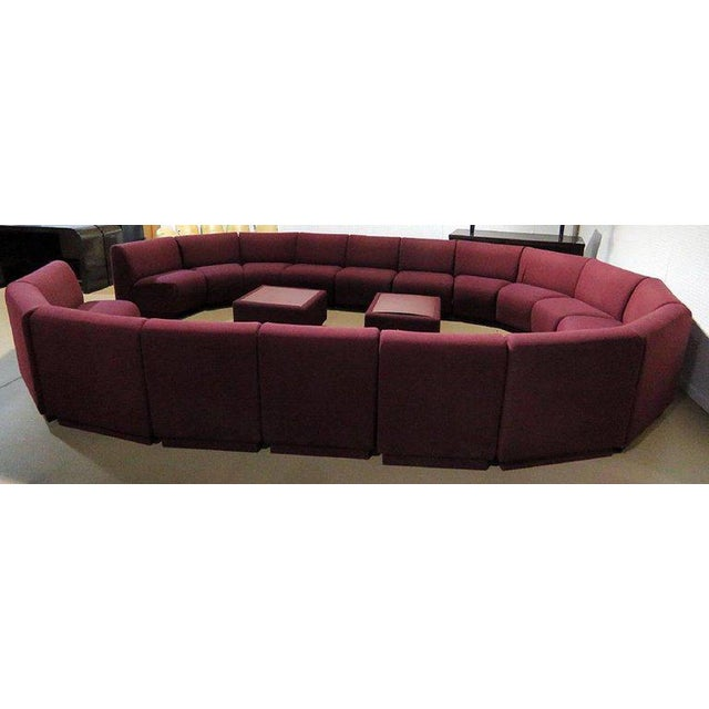 Milo Baughman for Thayer Coggin 20 Piece Sectional For Sale In Atlanta - Image 6 of 8