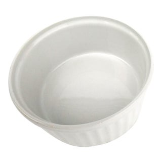 White Ribbed Arabia Finland Soufflé Dish Uunikokki