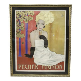 "Razzia Signed ""Pecher Mignon"" Advertising Poster"