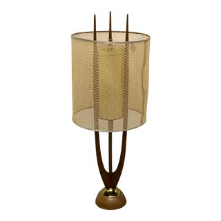 1960s Modeline Mid-Century Modern Pearsall Style Table Lamp For Sale