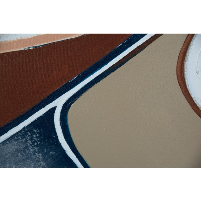 Abstract 1970s Large Abstract Vanguard Studio Painting by Lee Reynolds For Sale - Image 3 of 9