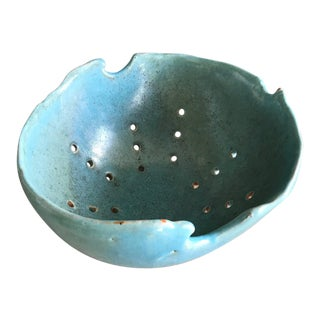 One of a Kind Ceramic Berry Bowl/Colander For Sale