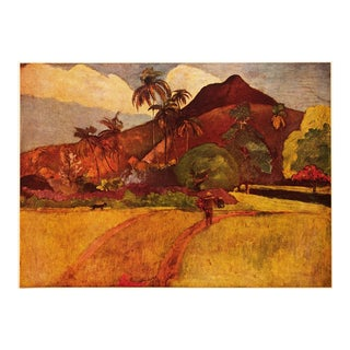 "Vintage Mid-Century ""Tahitian Landscape"" Lithograph Print by Paul Gauguin For Sale"