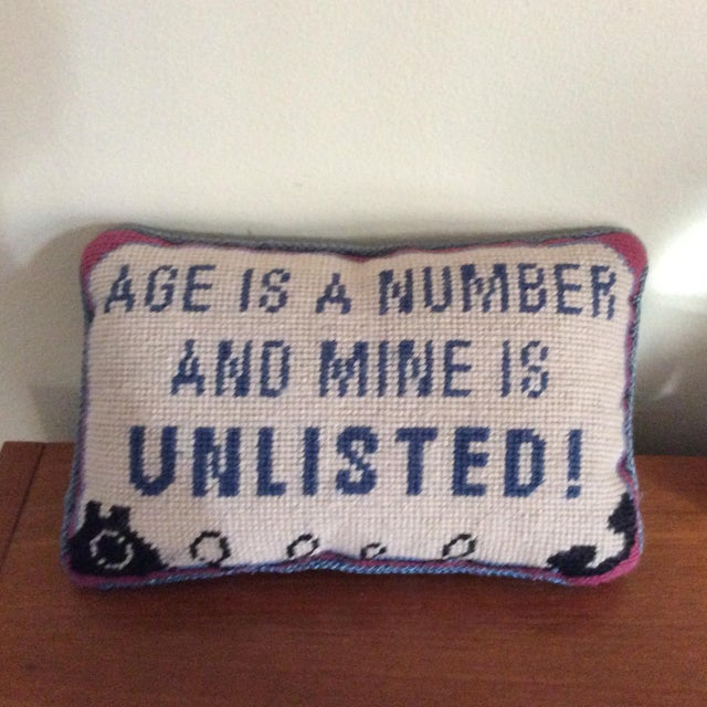 Vintage Needlepoint Pillow - Image 2 of 5