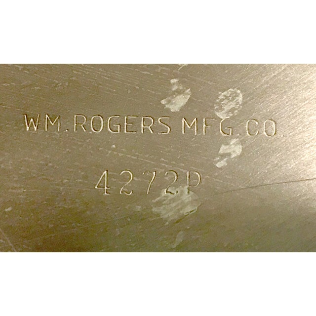 W.M. Rogers Silverplate Trays #162 & 4272p - Pair - Image 8 of 10