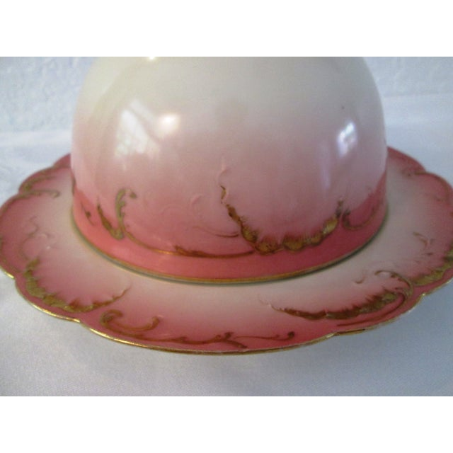 Antique French Limoges Domed Butter Dish - Image 3 of 7