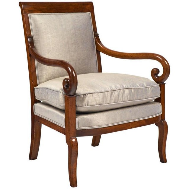 19th Century French Restauration Period Walnut Armchair - Image 2 of 11