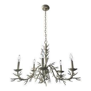Faux Coral 5 Light Chandelier For Sale